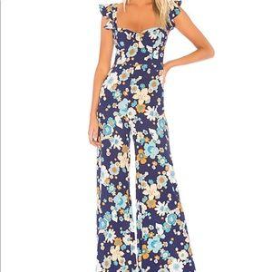 For love & lemons magnolia ruffle jumpsuit xs